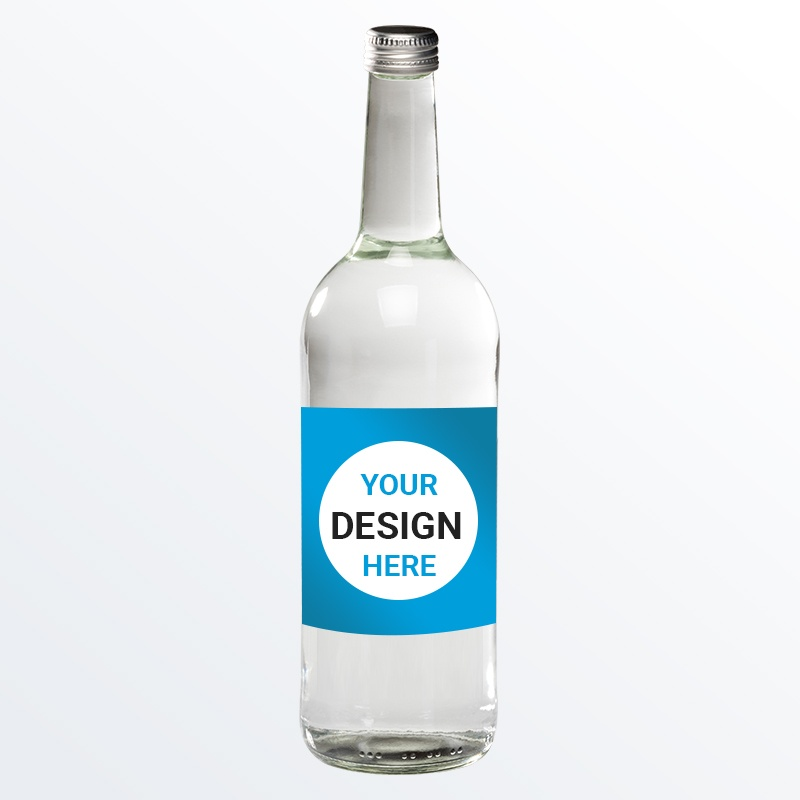 750ml Promotional Branded Water - Glass