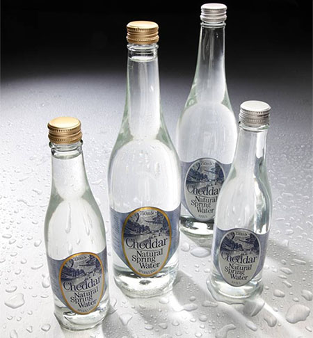 Cheddar Water Recycled Glass Bottle Range