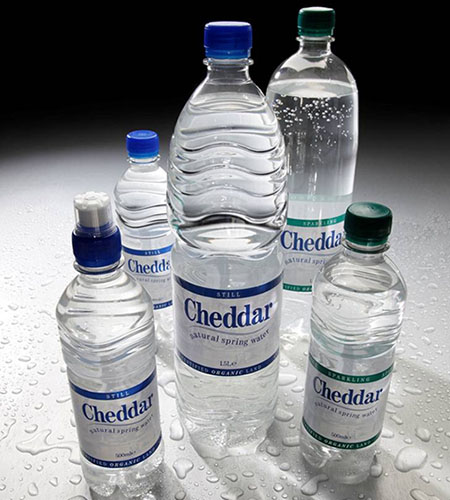 rPET Recycled Plastic Bottle Range - Cheddar Water